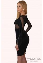 Елегантна блуза от черна мрежа INNA