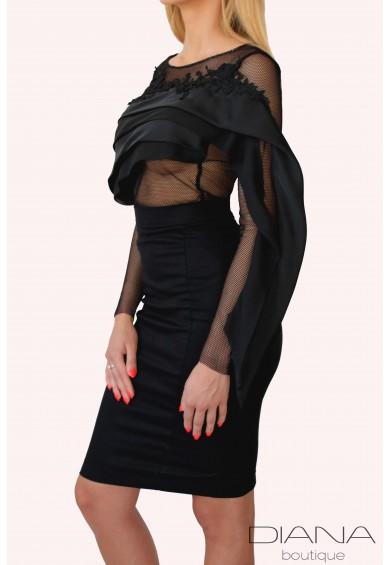 Eлегантна вталена пола Stela - от висококачествен памучен плат