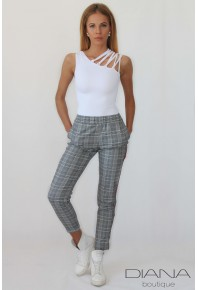 Кариран стилен панталон Summer Plaid