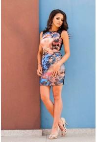 Вталена рокля с принт Alison